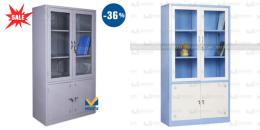 Giá tủ tài liệu sắt 2 khoang kính tại thegioitusat.com