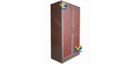 Mẫu tủ sắt đựng quần áo sơn vân gỗ sang trọng tại Misota