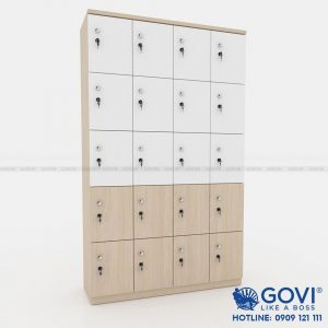 Tủ locker gỗ 20 cánh 4 khoang LKG20C4K-TN