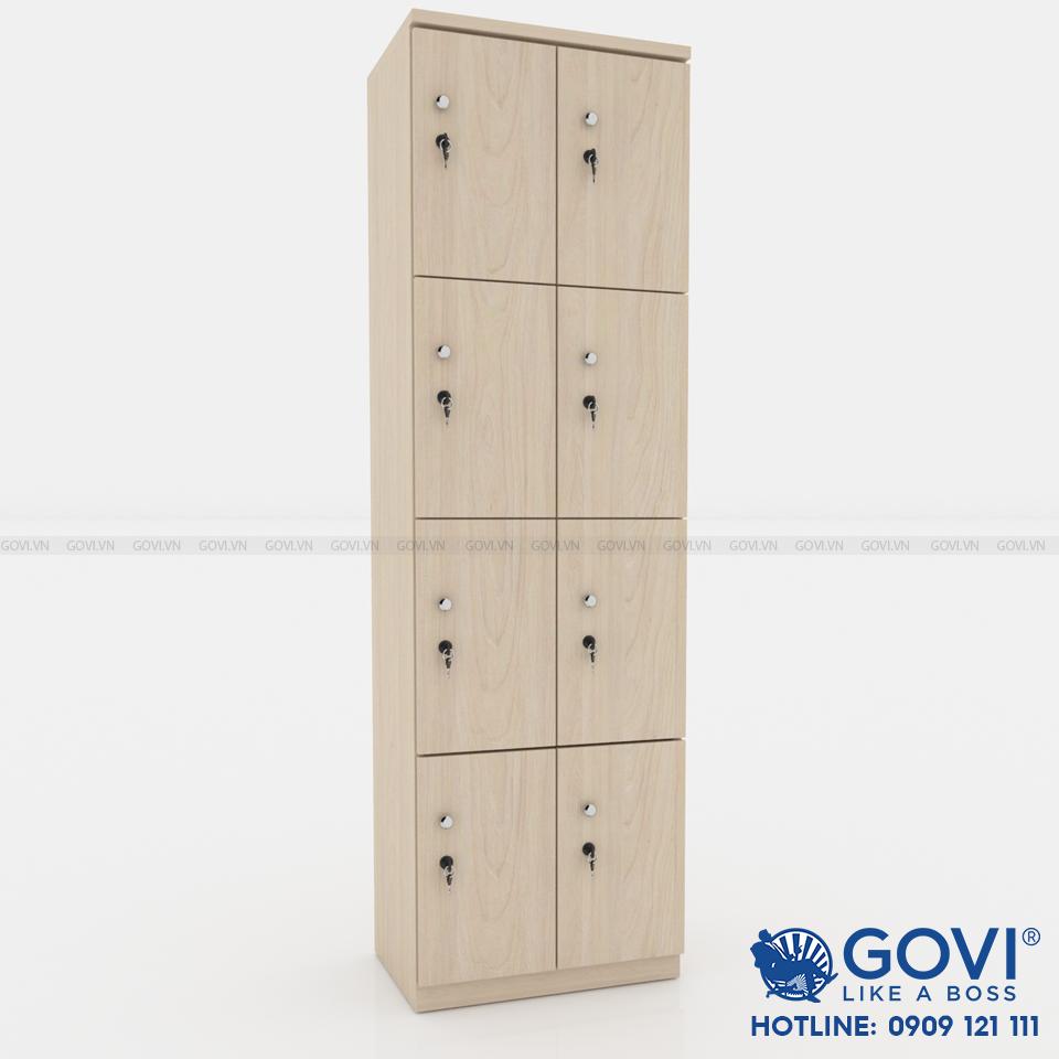 Tủ locker gỗ 8 cánh 2 khoang LKG8C2K