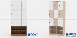 Sự tiện ích của mẫu tủ locker gỗ kèm kệ giày