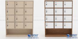 Tủ locker gỗ kèm tủ giày tích hợp tiện ích cho người dùng