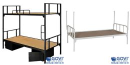 Nên lựa chọn giường sắt đơn hay giường sắt tầng?